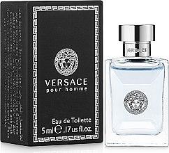 Düfte, Parfümerie und Kosmetik Versace Versace Pour Homme - Eau de Toilette (Mini)