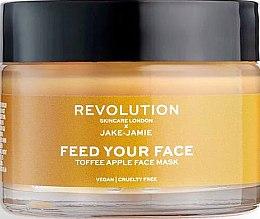 Düfte, Parfümerie und Kosmetik Feuchtigkeitsspendende Gesichtsmaske mit Apfelextrakt - Makeup Revolution Skincare Feed Your Face Toffee Apple Mask