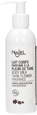 Parfümierte Körpermilch Tiare Flower mit Oliven- und Madelöl - Najel Organic Body Milk Tiare Flower — Bild N1