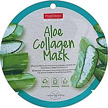 Düfte, Parfümerie und Kosmetik Tuchmaske für das Gesicht mit Aloe und Kollagen - Purederm Aloe Collagen Mask