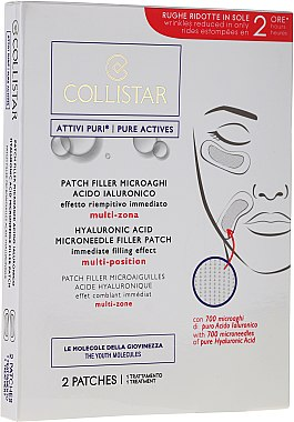 Anti-Falten Gesichtspatches mit Hyaluronsäure - Collistar Lift HD Hyaluronic Acid Microneedle Filler Patch — Bild N1