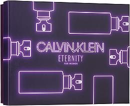 Düfte, Parfümerie und Kosmetik Calvin Klein Eternity For Woman - Duftset (Eau de Parfum 100ml + Eau de Parfum 10ml + Körperlotion 100ml)