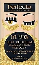 Düfte, Parfümerie und Kosmetik Straffende Augenpatches mit Gold und Gelée Royale - Perfecta Gold Glitter Eye Patch