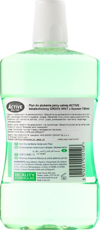 Mundwasser - Beauty Formulas Active Oral Care Mouthrinse Green Mint — Bild N2