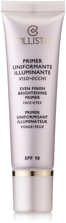 Glättender und aufhellender Gesichtsprimer SPF 10 - Collistar Face Primer Evening Brightening — Bild N1