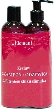 Haarpflegeset - Vis Plantis Element Snail Slime Filtrate (Shampoo 150ml + Condition 150ml) — Bild N1
