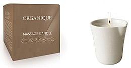 Massagekerze in dekorativem weißen Keramiktiegel Bambus - Organique Spa Massage Candle Bamboo (ohne Griff) — Bild N1