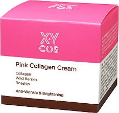 Düfte, Parfümerie und Kosmetik Aufhellende Anti-Falten Gesichtscreme mit Kollagen, Wildbeeren und Hagebutte - XYcos Pink Collagen Cream