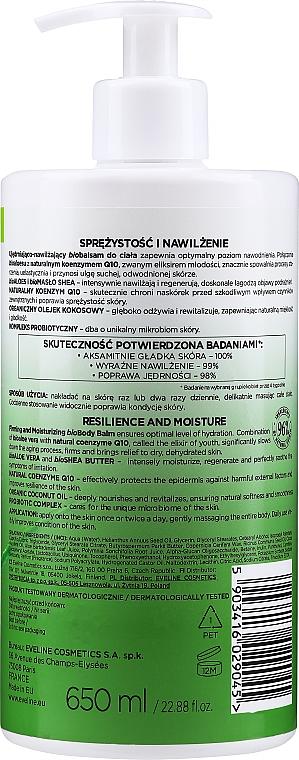Straffender und feuchtigkeitsspendender Bio Körperbalsam mit Aloe Vera für trockene Haut - Eveline Cosmetics Bio Organic Firming & Moisturizing Body Bio Balm Aloe Vera — Bild N2
