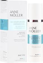 Düfte, Parfümerie und Kosmetik Feuchtigkeitsspendendes und schützendes Gesichtsgel - Anne Moller Blockage 24h Moisturizing Defender Gel
