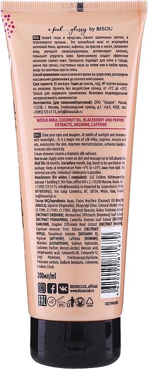 Modellierende Körpercreme mit Kokosöl und Koffein - Bisou Collagen&Blackberry Body Cream Shimmer — Bild N2