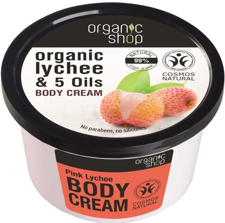 Körpercreme mit Bio Litschi-Extrakt und 5 Ölen - Organic Shop Body Cream Organic Lichee & 5 Oils — Bild N1