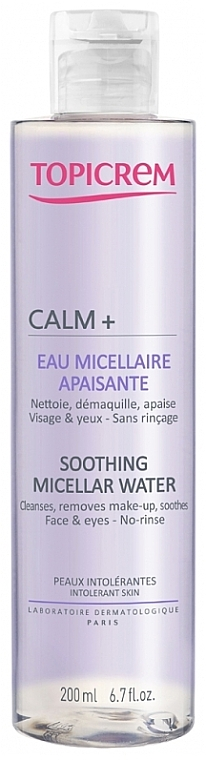 Beruhigendes Mizellenwasser zum Abschminken für Gesicht und Augen - Topicrem Calm+ Soothing Micellar Water — Bild N1