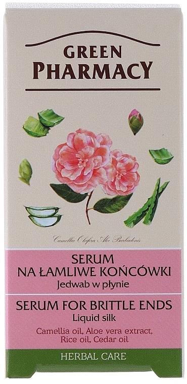 Flüssiges Seidenserum für spröde Haarspitzen mit Aloe Vera-Extrakt - Green Pharmacy