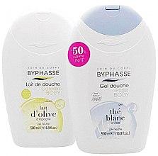 Düfte, Parfümerie und Kosmetik Duschgel Caresse & Plaisir Duo-Pack - Byphasse (Duschgel weißer Tee 500ml + Duschcreme Oliven 500ml)