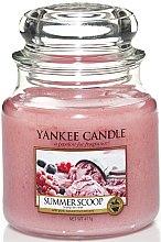 """Düfte, Parfümerie und Kosmetik Yankee Candle Summer Scoop - Duftkerze im Glas mit natürlichen Extrakten """"Summer Scoop"""""""