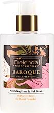 Düfte, Parfümerie und Kosmetik Nährende Hand- und Nagelcreme - Bielenda Professional Nailspiration Baroque Nourishing Hand & Nail Cream