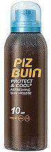 Düfte, Parfümerie und Kosmetik Erfrischende Körpermousse mit Sonnenschutz SPF 10 - Piz Buin Protect & Cool Refreshing Sun Mousse SPF10
