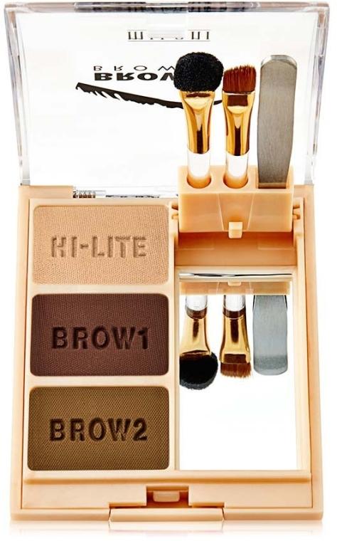 Augenbrauenpuder-Set - Milani Brow Fix Eye Brow Powder — Bild N1
