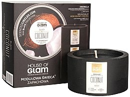 Düfte, Parfümerie und Kosmetik Soja-Duftkerze Black Coconut - House of Glam Raw Black Collection Black Coconut Candle