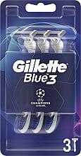 Düfte, Parfümerie und Kosmetik Einwegrasierer-Set 3 St. - Gillette Blue3 Comfort Football