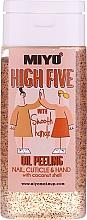 Düfte, Parfümerie und Kosmetik Hand-, Nagel- und Nagelhautpeeling mit Kokosnussöl - Miyo High Five Oil Peeling