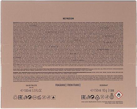 La Rive His Passion - Duftset (Eau de Toilette/100ml + Deodorant/150ml) — Bild N2