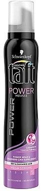 Schaumfestiger für trockenes und strapaziertes Haar Extra starker Halt - Schwarzkopf Taft Power Cashmere Touch Mousse  — Bild N3