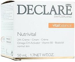 Düfte, Parfümerie und Kosmetik Pflegende und beruhigende Gesichtscreme mit Bisabolol und Aprikosenkernsamenöl - Declare Nutrivital 24 h Cream