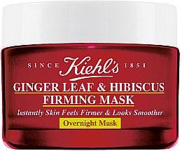 Düfte, Parfümerie und Kosmetik Straffende Anti-Aging Gesichtsmaske für glatte und jüngere Haut über Nacht - Kiehl`s Ginger & Hibiscus Overnight Firming Mask