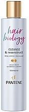 Düfte, Parfümerie und Kosmetik Regenerierendes Shampoo mit Rosenwasser für strapaziertes Haar - Pantene Pro-V Hair Biology Cleanse & Reconstruct Shampoo