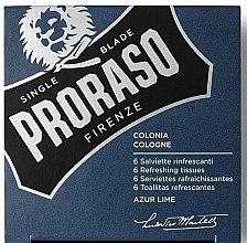 Düfte, Parfümerie und Kosmetik Erfrischende Feuchttücher für Bart und Gesicht mit Azur Limettenduft - Cologne Refreshing Tissues Azur Lime