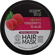 Düfte, Parfümerie und Kosmetik Volumen-Haarmaske mit Himbeere und Acai - Organic Shop Raspberry & Acai Hair Mask