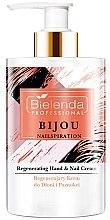 Düfte, Parfümerie und Kosmetik Regenerierende Hand- und Nagelcreme - Bielenda Professional Nailspiration Bijou Regenerating Hand & Nail Cream