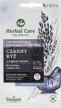 Düfte, Parfümerie und Kosmetik Gesichtsmaske mit schwarzem Reis und Aktivkohle - Farmona Herbal Care Black Rice Face Mask