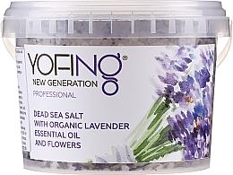 Düfte, Parfümerie und Kosmetik Badesalz aus dem Toten Meer mit Bio Lavendelextrakt - Yofing Dead Sea Salt With Organic Lavender Essensial Oil And Flowers