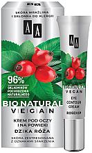 Düfte, Parfümerie und Kosmetik Augencreme mit Hagebutte für stapazierte Haut - AA Cosmetics Bio Natural Vegan Eye Contour Cream Rosehip