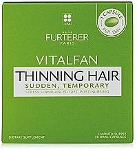 Düfte, Parfümerie und Kosmetik Nahrungsergänzungsmittel mit Biotin, Vitamin B8, Selen und Zink gegen Haarausfall - Rene Furterer Vitalfan Stress Hair Loss Vitamins