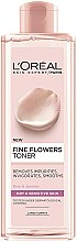 Düfte, Parfümerie und Kosmetik Cleansing Tonikum für trockene und empfindliche Haut - L'Oreal Paris Skin Expert Fine Flowers Toner