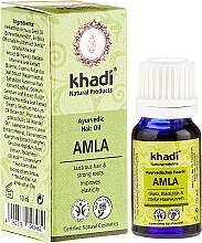 """Düfte, Parfümerie und Kosmetik Ayurvedisches Haaröl """"Amla"""" für Glanz, Elastixität und starke Haarwurzeln - Khadi Hair Oil (Mini)"""