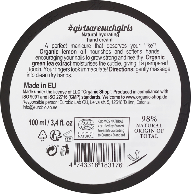 Feuchtigkeitsspendende Handcreme - Organic Shop Organic Kitchen Moisturizing Hand Cream — Bild N2