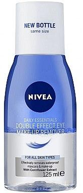 Double Effect Augen Make-Up Entferner für wasserfestes Make-up - Nivea Visage Double Effect Eye Make-Up Remover  — Bild N1
