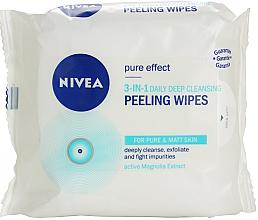 Düfte, Parfümerie und Kosmetik 3in1 Tiefenreinigende Peeling-Tücher mit Magnolia-Extrakt - Nivea Visage Pure Effect Peeling Wipes