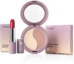 Düfte, Parfümerie und Kosmetik Make-up Set - Paese Nanorevit (Gesichtspuder 4.5g + Lippenstift 4/3g)