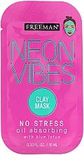 Düfte, Parfümerie und Kosmetik Beruhigende Gesichtsmaske mit blauem Lotus - Freeman Beauty Neon Vibes No Stress Oil Absorbing Clay Mask