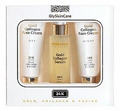 Düfte, Parfümerie und Kosmetik Gesichtspflegeset - GlySkinCare Gold Collagen (Gesichtscreme 2x 50ml + Gesichtsserum 50ml)