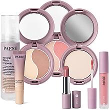 Düfte, Parfümerie und Kosmetik Make-up Set - Paese 15 Nanorevit (Foundation 35ml + Concealer 8.5ml + Lippenstift 4.5ml + Puder 9g + Puder 4.5g + Gesichtspuder und Rouge 4.5g + Lippenstift 2.2g)