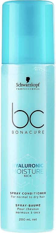 Feuchtigkeitsspendender Haarspray-Conditioner für normales bis trockenes Haar - Schwarzkopf Professional Bonacure Hyaluronic Moisture Kick Spray Conditioner — Bild N1