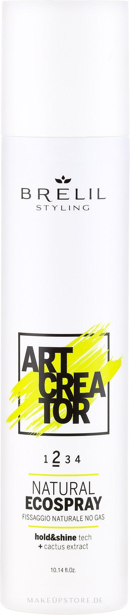 Haarspray mit Kaktusextrakt Mittlerer Halt - Brelil Art Creator Natural Ecospray — Bild 300 ml