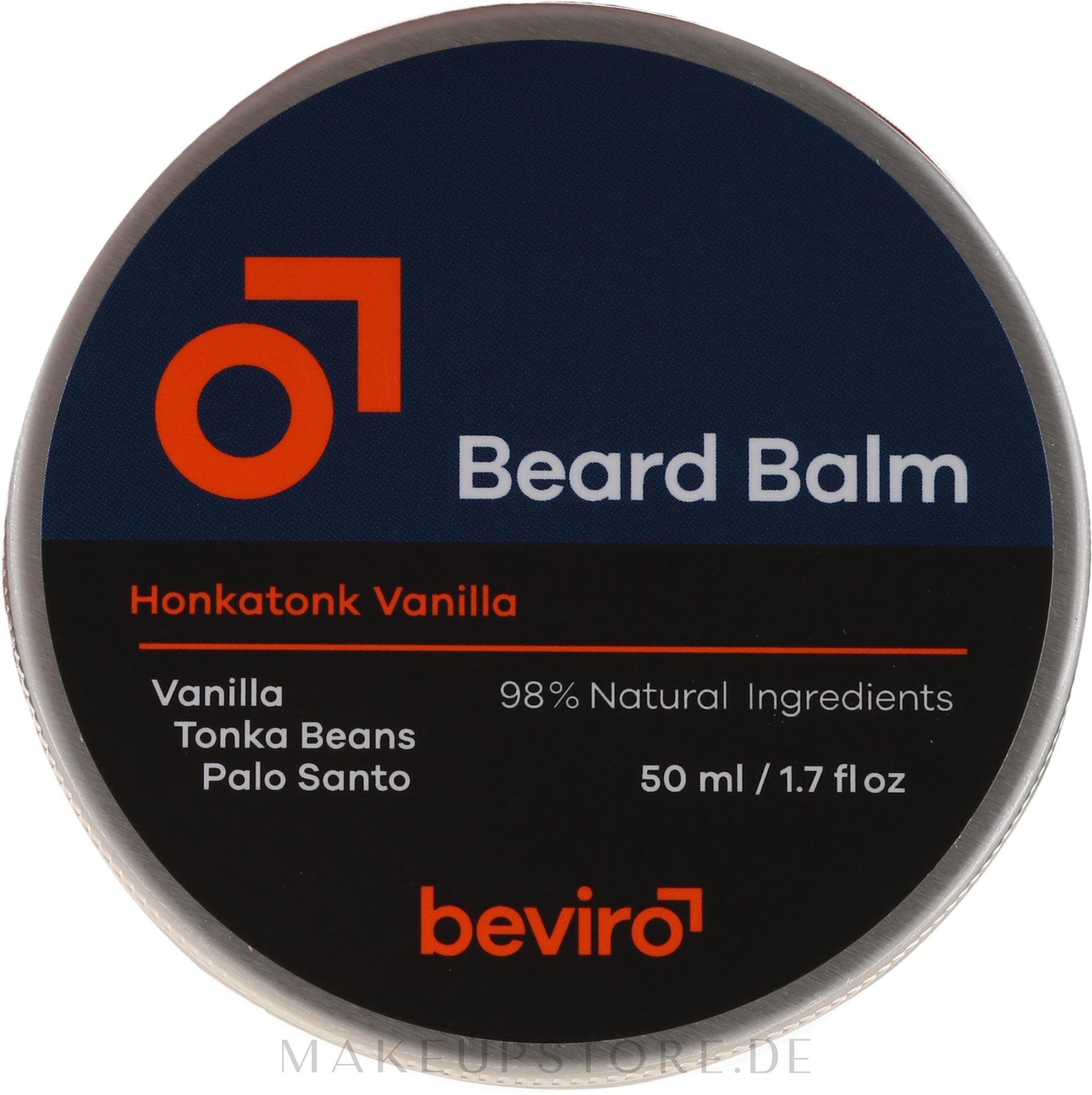Bartbalsam mit Vanille, Palo Santo und  Tonkabohnen - Be-Viro Beard Balm Vanilla, Palo Santo, Tonka Boby — Bild 50 ml